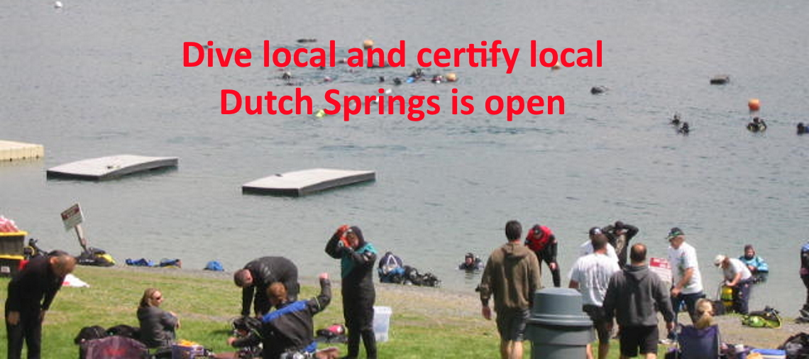 We are diving!! Join us at Dutch Springs